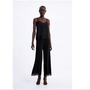 A bundle of Zara lace pajama camisole and pants